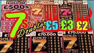 "CASH 7s DOUBLER""""""FULL £500s""""""CASHWORD MULTIPLIER""""""£5 CASH 7s""""""GOLD 7s""""""SCRATCHCARDS"
