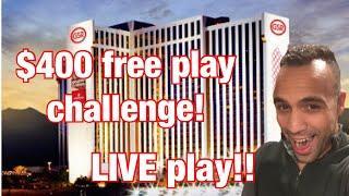$400 free play challenge @ GSR Reno