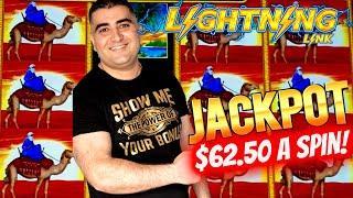 $62.50 Bet HANDPAY JACKPOT On High Limit Sahara Gold Lightning Link Slot Machine | SE-9 | EP-27