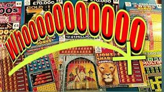 """CRACKING GAME""""MONEY KINGDOM """"BINGO BONUS""""LION SHARE DOUBLER""""GOLD 7s..SPIN £100  SCRATCHCARDS"""