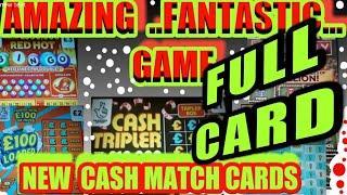"UNBELIEVABLE. GAME Scratchcards...NEW CASH TRIPLERS""RED HOT BINGO""MONOPOLY""WONDERLINES""£100  LOADED"