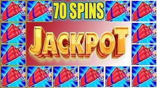 70 SPINS TRIGGER JACKPOT! MONEY BLAST HIGH LIMIT SLOT MACHINE