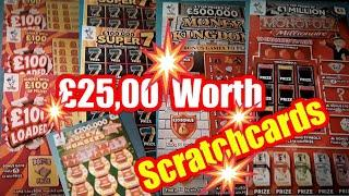 •Scratchcard Thursday•MONOPOLY•MONEY KINGDOM•.£100 Loaded•Super7's•Lucky Numbers•