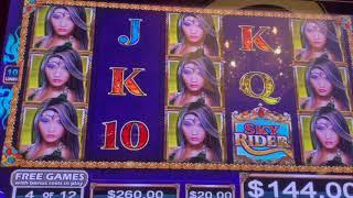 Sky Rider - $30/50 Spins - High Limit Slot Play