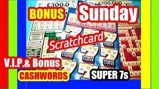 Here is an Extra game..Scratchcard. Super 7's. CashWord VIPand CashWord Bonus...