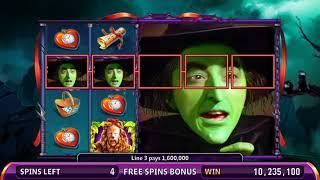 WIZARD OF OZ: WONDERFUL LAND OF OZ Video Slot Casino Game with THE WITCH'S CASTLE FREE SPIN BONUS