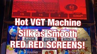 RED RED SCREENS! VGT HOT MACHINE ! SILK AS SMOOTH & 777 BOURBON STREE SLOT ! WINSTAR CASINO !