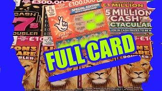 MEGA SCRATCHCARD GAME....MORE WINNING CARDS....INCLUDES A FULL CARD....FANTASTIC GAME...