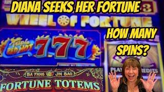 DIANA SEEKS HER FORTUNE-FORTUNE TOTEMS & WHEEL OF FORTUNE