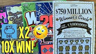 DOUBLE  BIG WIN on NEW TICKETS! Willy Wonka + Wild $10  $140 TEXAS LOTTERY Scratch Offs