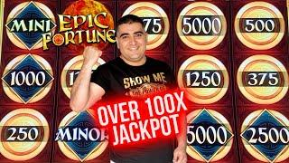 Over 100x HANDPAY JACKPOT On Epic Fortune Slot ! $1,000 Challenge To Beat The Casino | EP-9