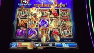 Dragon Spin Slot Machine Raining Wilds Free Spin Bonus #2  New York Casino Las Vegas