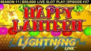 High Limit HAPPY LANTERN Lightning Link & Thunder Cash Slots Live Play   Season 10   Episode #29