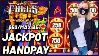 WACKY WEDNESDAY W/ GRETCHEN #10 HANDPAY JACKPOT High Limit Cash Falls $50 Bonus Round EPIC COMEBACK