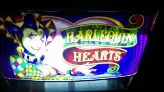 Aristocrat - Harlequin Hearts Slot Machine Bonus - Sticky Wilds
