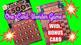 Full of £500s...and ..BONUS..Scratchcard.....on our One Card Wonder Game..  mmmmmmMM
