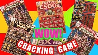 "FANTASTIC Scratchcard Game""12 Months Richer""Christmas Countdown""Festive £500s""£100 Loaded""Bingo"""