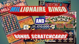 Millionaire BINGO Scratchcard..Instant £100..Dough me Money.Cash Match..£100,000 yellow