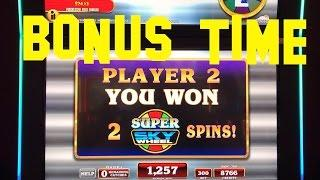 Money Rain Super Sky Wheel live play max bet with BONUS WHEEL SPIN IT Slot Machine