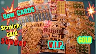 •New Scratchcards•GOLD TRIPLER•POT of GOLD.•.V.I.P.CASHWORD•TRIPLE JACKPOT•£100 LOADED•