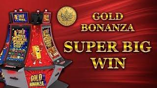 * HUGE WIN * GOLD BONANZA - 5c denom - bonus w/ retriggers - Slot Machine Bonus