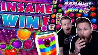 4 SCATTER JAMMIN JARS BONUS - SUPER BIG WIN