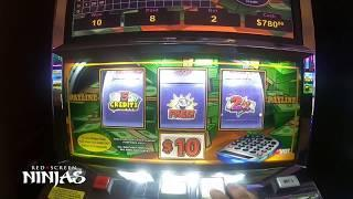 VGT SLOTS - RED SCREEN NINJAS AT WINSTAR CASINO WITH HANDPAY JACKPOT!