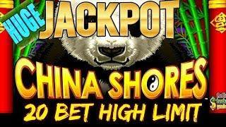 WE HAD A FEELING! HUGE JACKPOT $20 BET HIGH LIMIT CHINA SHORES SLOT MACHINE