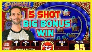 Back-2-Back HIGH LIMIT BONUSES  on PINBALL $9-$20/SPIN  Downtown Las Vegas  Brian C Slots