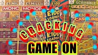 GAME ON!..for EXCITING GAME .£100 LOADED..SCRABBLE CASHWORD..CASH LINES..MONOPOLY GOLD..INSTANT £100
