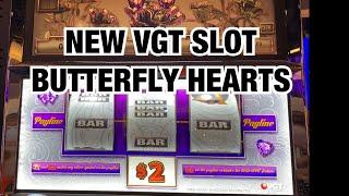 SKY TOWER AT CHOCTAW CASINO ** NEW VGT SLOT BUTTERFLY HEARTS & CRAXY BILL GOLD STRIKE **