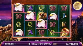SUPER STAMPEDE Video Slot Casino Game with a BIG WHITE BUFFALO FREE SPIN BONUS