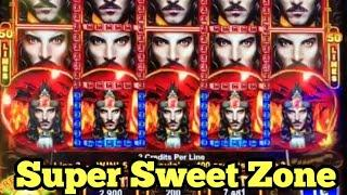 ***FULL SCREEN WILDS*** $2 BET BIG WIN ON SUPER SWEET ZONE   52 DRAGONS WILD CARD BONUS GAMES