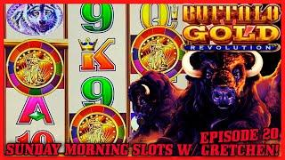 Buffalo Gold Revolution HIGH LIMIT $15 BONUS  SUNDAY MORNING SLOTS WITH GRETCHEN EPISODE #20