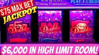 $6,000 On High Limit 3 Reel Slot Machines & JACKPOT HANDPAY On Pink Diamond Slot | SE-10 | EP-2