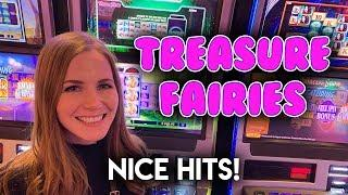 BONUSES! Treasure Fairies Slot Machine! Can I Advance All The Way?