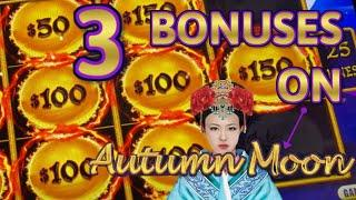 HIGH LIMIT Dragon Cash Link Autumn Moon $50 Bonus Round Slot Machine Casino