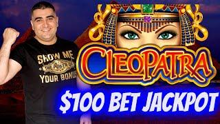 $100 A Spin Cleopatra ! 2 HANDPAY JACKPOTS On High Limit Slot Machines ! JACKPOT WINNER 2021