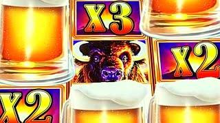 BUFFALOES & BEER! DID THEY MISS ME!?  BACK IN THE CASINO! Slot Machine Bonus