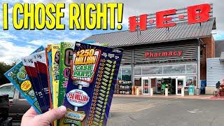 I CHOSE RIGHT!  $140/Tickets FROM H-E-B Grocery  TEXAS LOTTERY Scratch Offs