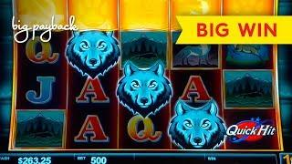 WOW, WHAT A BONUS! Quick Hit Wolf Mountain Slot - BIG WIN!