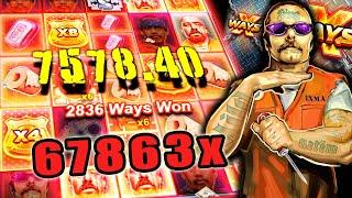 SAN QUENTIN xWAYS SLOT - 67863x RECORD WIN!