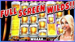 •RARE • FULL SCREEN WILDS • BIG WIN   Heidis Bier Haus Slot Machine Bonus