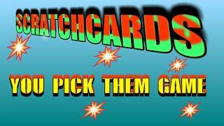 SCRATCHCARDS..YOUR CHANCE TO PICK THEM..BEFORE WE SCRATCH