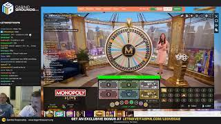 LIVE CASINO SLOTS - Sunday High Roller - !giveaway on Opal Fruits live • (02/06/19)