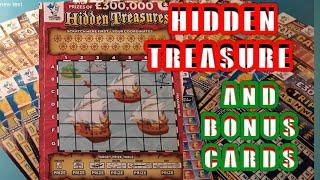 .HIDDEN TREASURE...Scratchcard..and Bonus Scratchcard...on our..One Card Wonder Game..