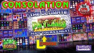 LIVE:  ULTIMATE PAYLINES SLOT TOURNAMENT  CONSOLATION ROUNDS  THE SLOT MUSEUM
