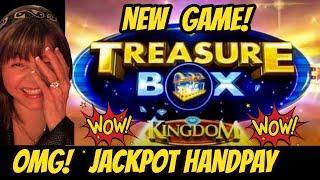 MAJOR JACKPOT Handpay! New Game Treasure Box Kingdom