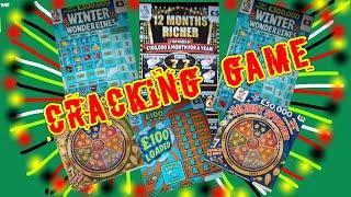 CRACKING GAME.of Scratchcards...£100 Loaded..Money SPINNER..Cash Drop..Wonderlines..12 Mths RICHER.