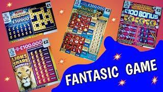 BIG SCRATCHCARD GAME. SPIN £100....LION DOUBLER...FULL £500s...JEWEL SMASH..SPIN £100..CASHWORD